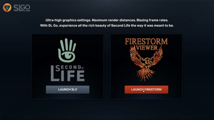 SL Go users access the service via PC or Mac now have a choice of viewer: the SL Viewer (SLV, as OnLive refer to it) or Firestorm