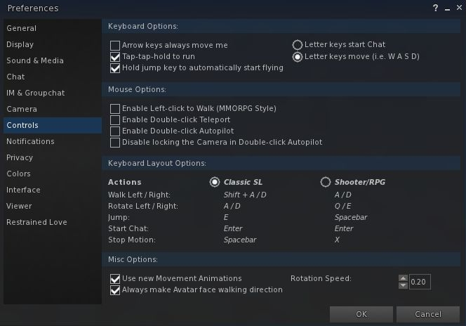 The updated preferences panel showing the crisper layout of the new UI