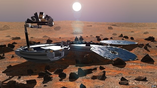 An artist's impression of Beagle 2 on Mars (image: European Space Agency)