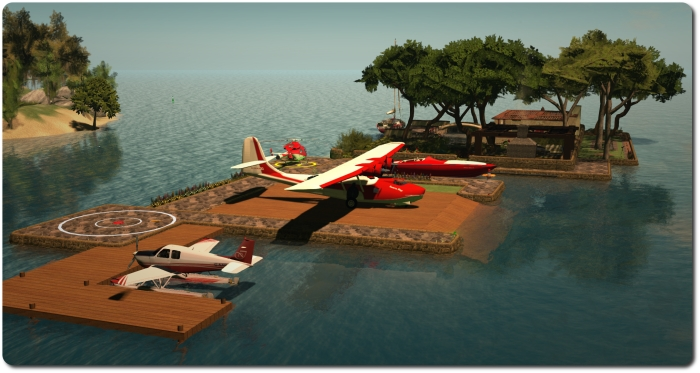 Building on the island: revising things to provide room for a new plane and moorings for visitors