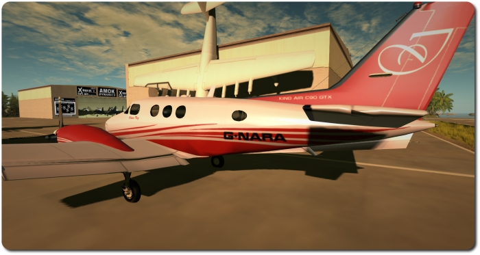 DSA Beechcraft King Air C90 GTX - a closer look at my paint scheme