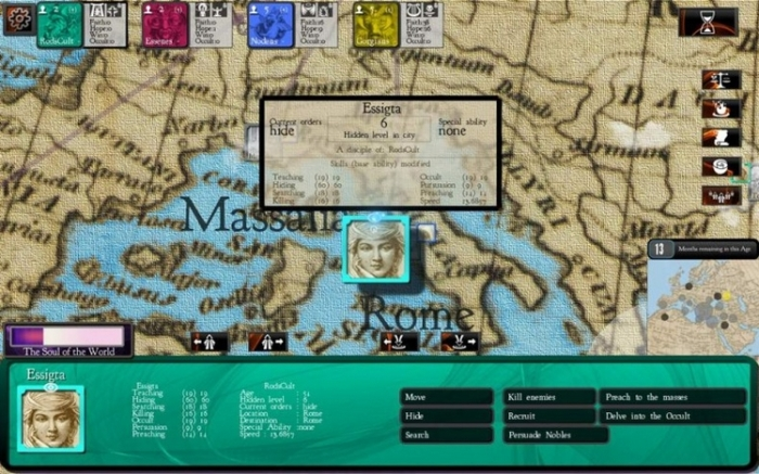 Cults and Daggers play screen (image courtesy of Chaphat LLC)