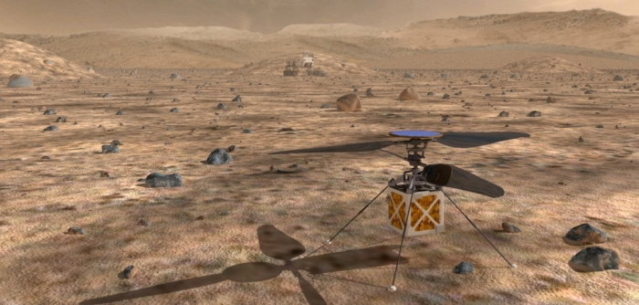An artist's impression of the Mars Helicopter