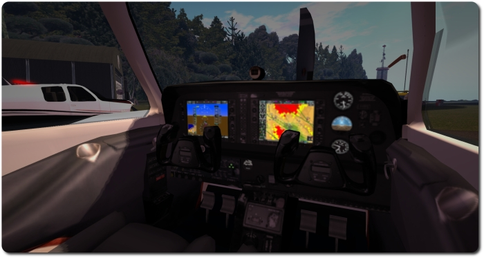 The C33 pack included new interior textures, added via the Materials option on the HUD