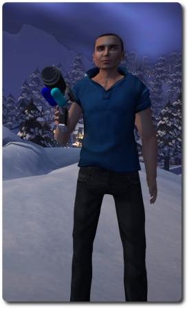 Ebbe, Get Your Gun! - my first encounter at the park was a snowball gun toting Ebbe Linden!