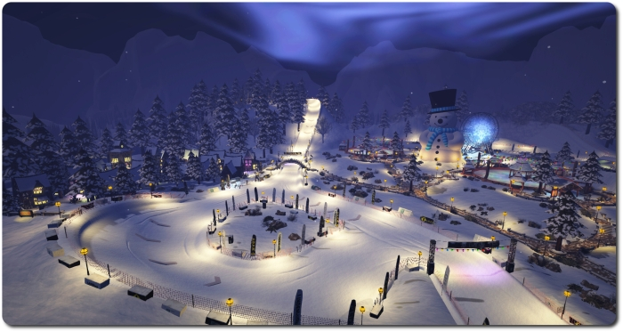 Winter Wonderland - race track, rinks and Ferris Wheel