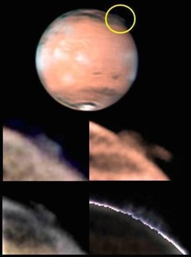 Martian high-altitude plumes