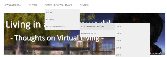 "My ""travelogue"" articles on SL destinations, and features on other virtual world have been relocated"
