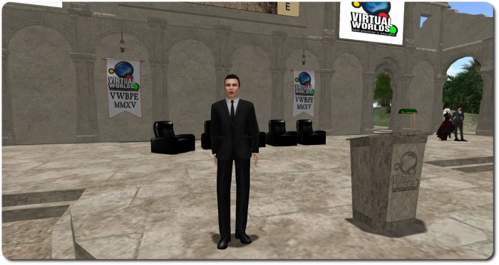 Ebbe Linden as he appeared in-world at the VWBPE 2015 conference