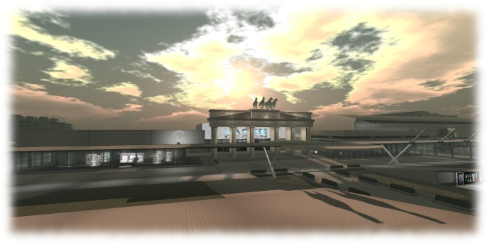 Berlin, Fashion For Life - The Brandenburg Gate stands tall over proceedings. Region designed by Setsuna Infinity