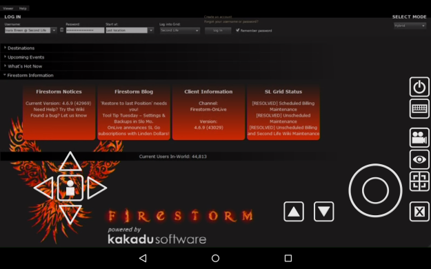 OnnLive have released Firestorm for SL Go running on Android devices and iPads - and for the time being, it is the viewer for such devices