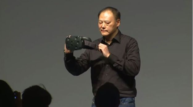Peter Chou, HTC's CEO, unveils the Vive on the eve of the Mobile World Congress in Barcelona, March 1st, 2015