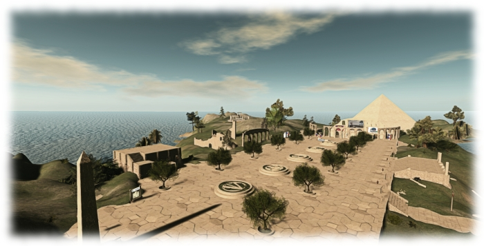 The VWBPE main plaza in SL