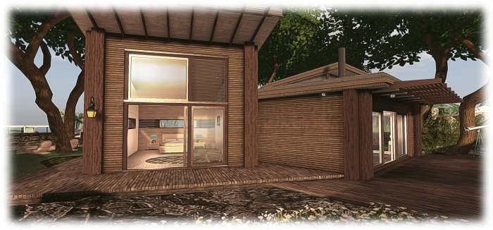 Another view of the Skye Luxury Forest Cabin, which now forms my latest home in SL