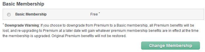 Premium downgrade