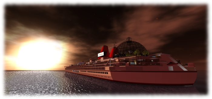 SS Galaxy is a unique environment; a highlight of Second Life