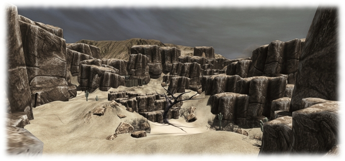 Game-play for Remnants of Earth takes place across several different elevations in the region, including the ground-level desert