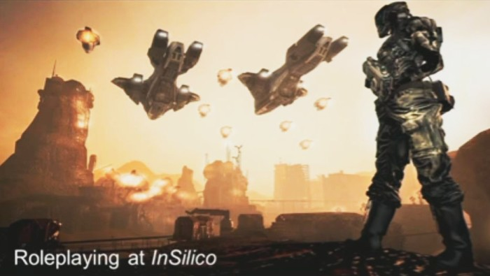 The InSilico RPG was mentioned to help illustrate the wide variety of SL content