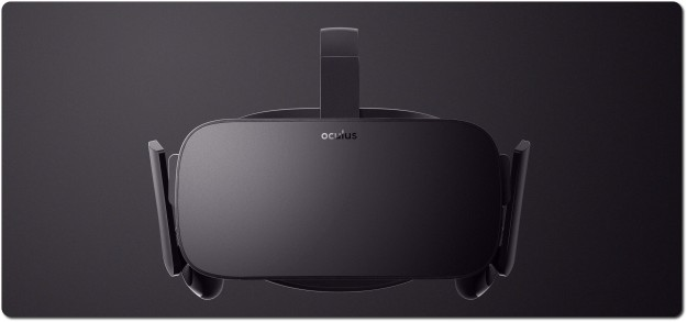 A front view of the Oculus consumer version (courtesy of Oculus VR)