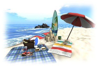 The summer Premium membership promo offers those interested a beach set