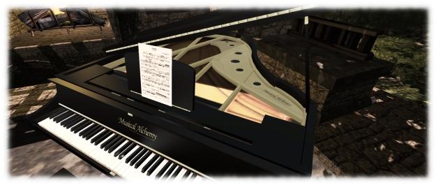 Musical Alchemy concert grand by Persephone Milk: still a stunning piano