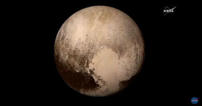 Pluto by day: this image of Pluto, captured on July 14th, is the clearest true-colour image of the dwarf planet so far returned by New Horizons and shows deails down to 2.2 kilometres across