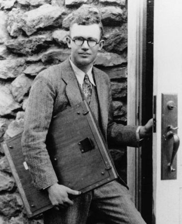 Clyde Tombaugh at the Lowell observatory, 1931, where he discovered Pluto in 1930