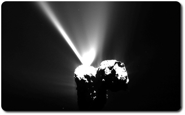 dramatic outburst from the nucleus of Comet 67P/Churyumov-Gerasimenko occured on August 12, just hours before perihelion