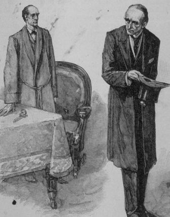 Holmes and Moriarty by Sidney Paget, 1893