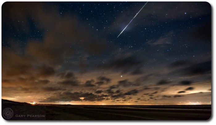 Gary Pearson caught this incredible meteor trail over Brancaster, Norfolk, UK on August 12th - a stunning display from an already vaporised particle of dust