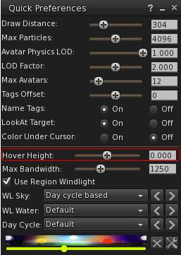 Hover Height, the Lab's replacement for the Z-offset height adjustment can now be accessed from Quick Preferences