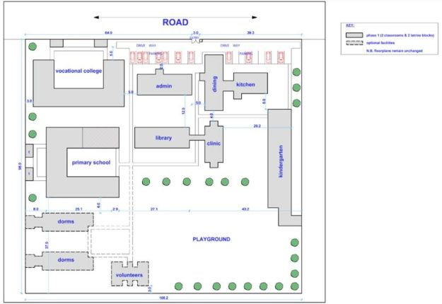 The plans for the completed LLK Nakuru school (click for full size)