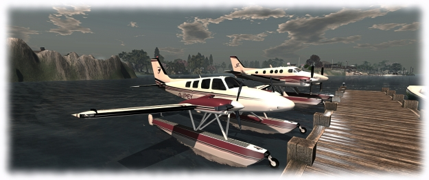 "The Baron (front) and the King Air in their ""matching outfits"") largely based on VetronUK paint kits"