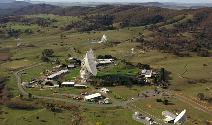 NASA Deep Space Network facility near Canberra, Australia
