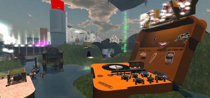 The giant record player at Khanada will be the location for a special celebration at the Duran Duran universe in SL