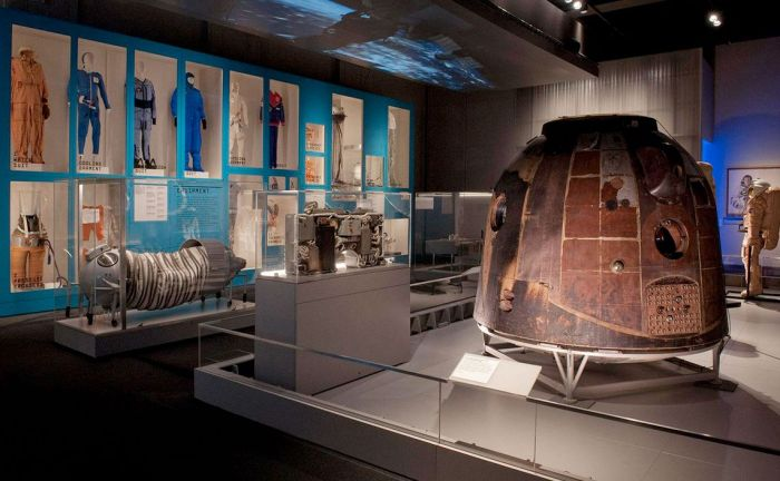 Tereshkova's Vostok 6 capsule in which she spent 3 days in orbit in June 1963, marking her as the first woman and technically the first civilian to fly in space