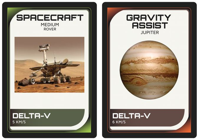Samples of the Xtronaut game play card