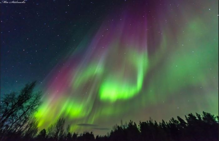 Astrophotographer Mia Stålnacke caught this aurora display over Kiruna, Sweden, in March 2015