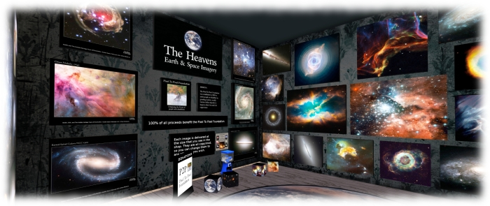 The P2P Foundation store offers a series of NASA / ESA images of Earth and space for sale, proceeds from which go directly to the Foundation's work
