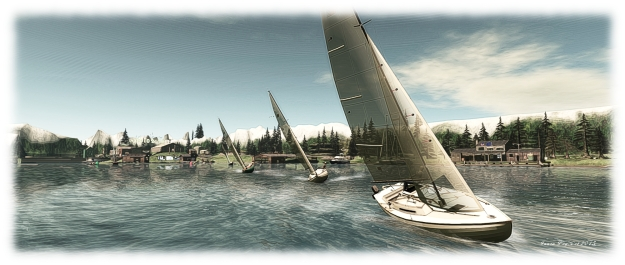 Second Life International Folkboat Fleet races at Skagway