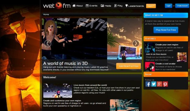 Sinewave Entertainment already use a dedicated web presence for their various experiences such as wet.fm