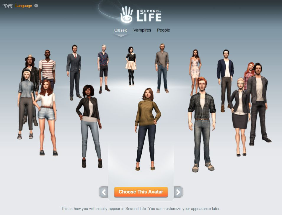 """A look at the new """"Classic"""" avatars for Second Life – Inara"""