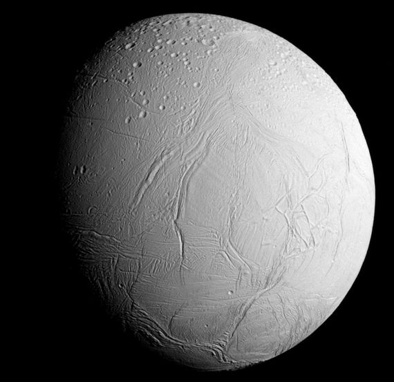 Enceladus revealed: captured on October 28th, this image reveals the icy beauty of encedaus as Cassini closes for its penultimate, and closest, approach to this tiny Moon with its hidden ocean