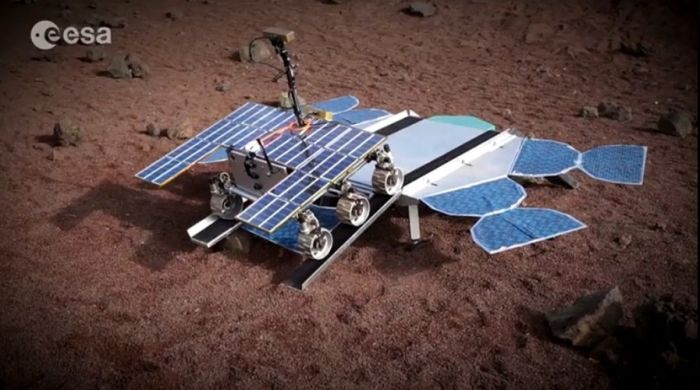 The Advanced Prototype EoMars Rover undergoing remote deployment testing in 2015