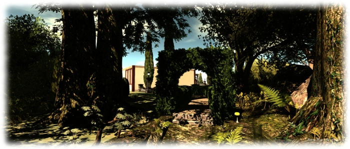 The Garden at Holly Kai Park: link path from park to Garden