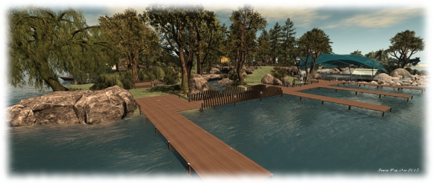 The moorings on both the east and west sides of the park have been revised to offer more room for boats