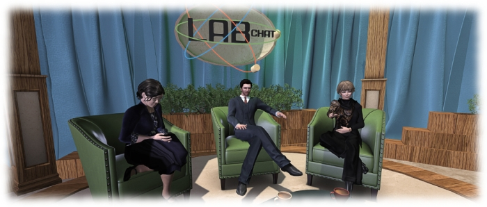 Jo Yardley, Ebbe Linden and Saffia Widdershins in the first Lab Chat recording
