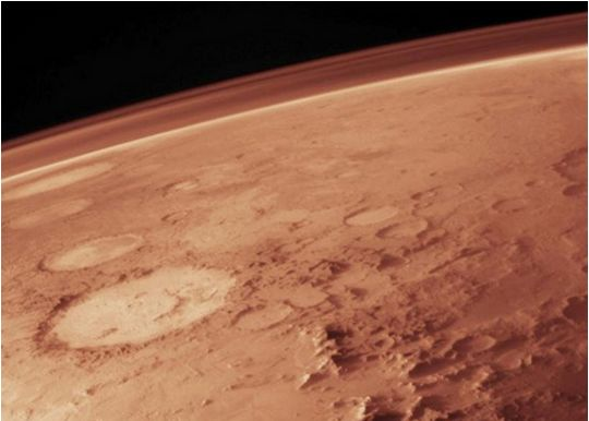 The tenuous atmosphere of Mars is predominantly carbon dioxide - but where is it all going?