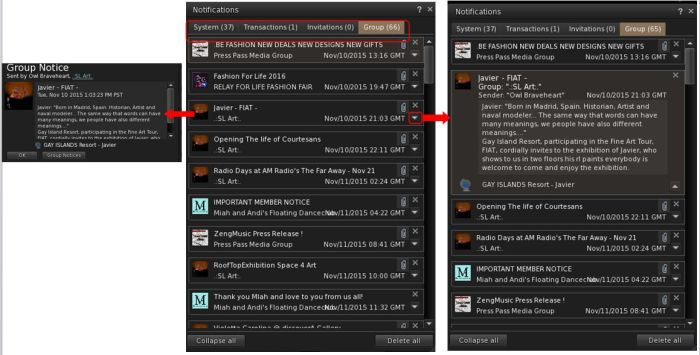 The new Notifications floater from the Lab is included in Firestorm 4.7.5.
