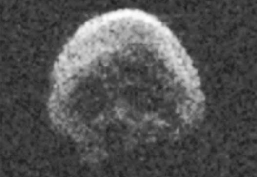 Asteroid 2015 TB145 in an eerily skull-lik image captured by the Are